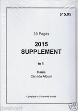 2015 Supplement to fit Harris Canada Album - 39 Pages!
