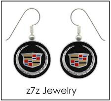 CADILLAC Emblem Earring Set - silver auto logo dangle jewelry women car z7qq