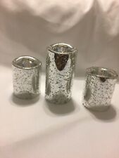 Ashland Christmas Candle Collection Silver Color Flamless Led Pillars