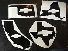 X1 Chevy State Vinyl Decal Sticker ANY STATE ANY COLOR Chevrolet Silverado Col