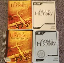 BJU World History B 3rd Edition 10 Gr Teacher Book Student Book Tests & Test Key