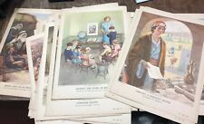 VIntage Providence Lithograph Co. 1949/1950 Teaching Pictures Lot Of 27
