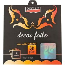"Decor Foil 5.5""X5.5"" 5/Pkg - Hologram Silver"