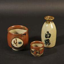 Studiokeramik art pottery contemporary ceramic 3 Teile Mashiko Japan