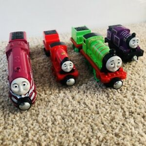Henry/Ryan/Mike/Caitlin Thomas and Friends 4x Trains Bundle (Mattel) Take N Play