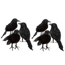 6er-Set Schwarz Taubenschrecke Krähe Rabe Taubenabwehr Vogelschreck Lockvogel