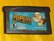 POPEYE RUSH FOR SPINACH Game Boy Advance GBA Ver Americana ○ SOLO CARTUCCIA - AQ