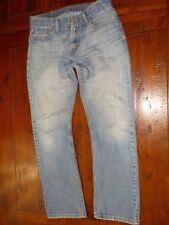 LEVI'S 514 Slim Straight Jeans men's 33x30.5 (measured) distressed nice fading