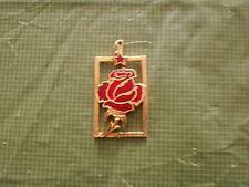 1972 Lidicka Ruze - Lidicka Rose Golden Red Enamel Pendant