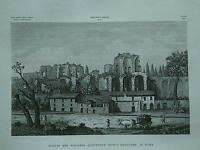 1845 Zuccagni-Orlandini Avanzi del Palazzo Augustale detto MAggiore in Roma