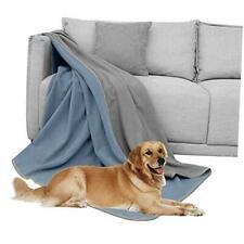 Waterproof Dog Blanket for 00006000  Bed Couch Sofa 70x70 Inches Light Blue+grey