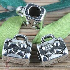7pcs tibetan silver color handbag shaped spacer beads EF0247