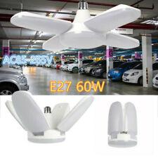 60W E27 LED Garage Light Bulb Deformable Ceiling Fixture Lights Shop Work Lamp