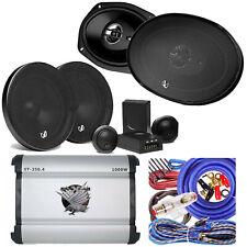 "New listing 2x Infinity 6.5"" Component 2x 6"" x 9"" Speaker + SoundXtrem 1000W 4 ch Amp +Kit"