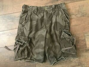 "EUC American Eagle Men's Camo Cargo Shorts Size 31 ~ Actual 34 ~ 11"" Inseam"