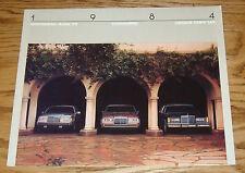Original 1984 Lincoln Full Line Sales Brochure 84 Mark VII Continental Town Car