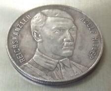 German Reichs Kanzler Silvered Bronze Coin 1937 Pre-War Germany Exonumia Token