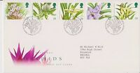 GB ROYAL MAIL FDC FIRST DAY COVER ORCHIDS STAMP SET 1993 BUREAU PMK