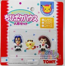"Pokemon Mate Japan TOMY ""Team Rocket"" JESSIE / JAMES / MEOWTH figures set"