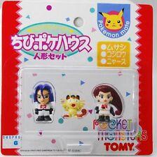 "Pokemon Mate Japan TOMY ""Team Rocket"" JESSIE / JAMES / MEOWTH figures set"