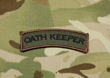 OATH KEEPER Tab Rocker Tactical Army Military Badge Forest Morale Patch Hook