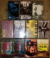 11 REM CASSETTE TAPES LOT CHRONIC TOWN MURMUR NO. 5 GREEN MONSTER FABLES OF TIME