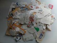 LOT OF WORLDWIDE OLD STAMPS USED