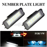 2x LED Number License Plate Light Lamp For VW GOLF MK4 MK5 MK6 MK7 Seat Polo Eos