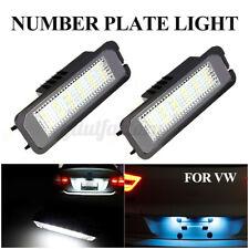 2x LED Number License Plate Light Lamp For VW GOLF MK4 MK5 MK6 MK7 Seat Polo Eos