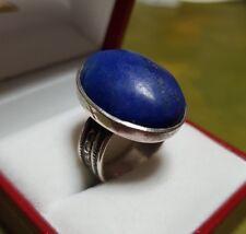 Bague createur argent massif lapis lazuli taille 52 RefV713