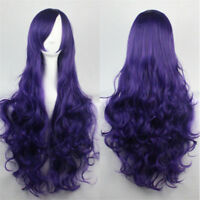 80cm Women Full Wig Long Curly Wavy Wigs Hair Anime Cosplay Party Costume  New
