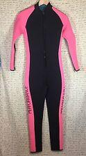 Performance Wet Snorkel Dive Suit 3mm  SZ Medium Pink & Black Zipper Full Body