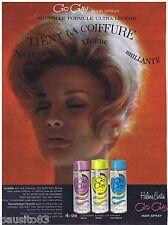 PUBLICITE ADVERTISING 105  1963  HELEN CURTIS   laque HAIR SPRAY GO GAY