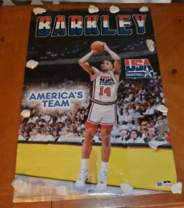RARE VINTAGE CHARLES BARKLEY AMERICA'S TEAM # 3896 POSTER