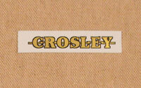 Crosley Radio Logo Water Slide Decal - Old Antique Wood Vintage Tube Radio Parts