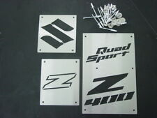 SUZUKI LTZ400 LTZ 400 QUAD SPORT 02-08 CUSTOM FENDER WARNING TAGS PLATES