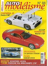 AUTO MODELISME n°88 02/2004 CHAPARRAL 2F FERRARI 612 MATRA 630-650 PORSCHE 906