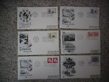 Six 1966-1967 Artcraft FDCs