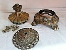 Salvaged Lamp Light Parts Falkenstein & Table Lamp Base Plus One Other Piece