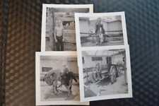 Vintage 1950s Photos Cute Boy at Roadside Western Horse Theme Photo Ops 859