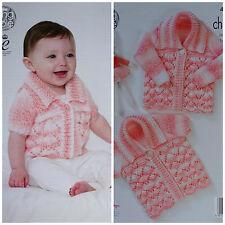 Baby lavoro a maglia Motivo Bambini Lacy Cardigan & Matinee Cappotto Grosso King Cole 4581