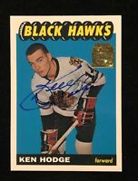 KEN HODGE 2002 TOPPS ARCHIVES AUTOGRAPHED SIGNED AUTO HOCKEY NHL CARD 65 HAWKS