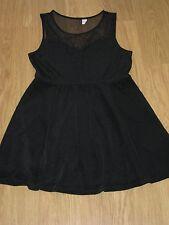 LADIES BLACK DRESS,SIZE 12,  SLEEVELESS CHIFFON TYPE DRESS, H&M