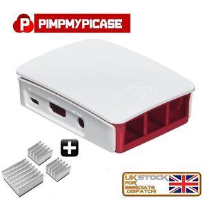 Raspberry Pi Enclosure Case Shell White Raspberry Pi 3 2 Model B/ B+ 3 HEATSINK