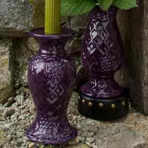 Temptations/Tara at Home Dee-Vine Eggplant Candle Holder/Vase