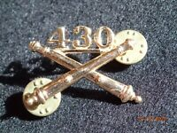 Korean War US Army Officers' Branch Collar Insignia Device 430th Field Artillery