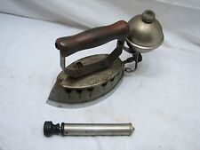 Early Montgomery Ward Gas Sad Iron Kitchen Tool Akron Lamp Co Steampunk w/Pump