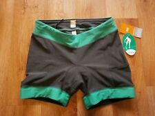 WOMENS LUCY SPIN FUSION SHORTS, SPINNING GYM CYCLING SHORTS , GREY SIZE M NWT