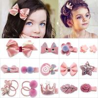 18Pcs/set Mini Hairpin Girl Hair Clip Bow Flower Barrettes Star Kids Infant Cute