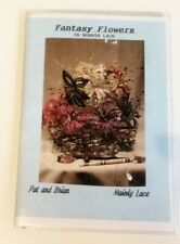 Fantasy Flowers Bobbin Lace Pattern Book - Mainly Lace. With unused prickings